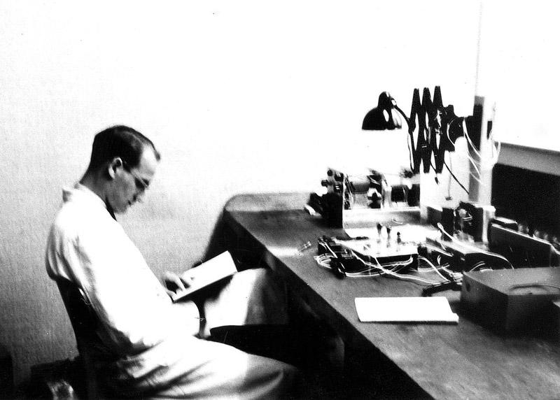 Heinz Nixdorf in den Räumen der RWE in Essen