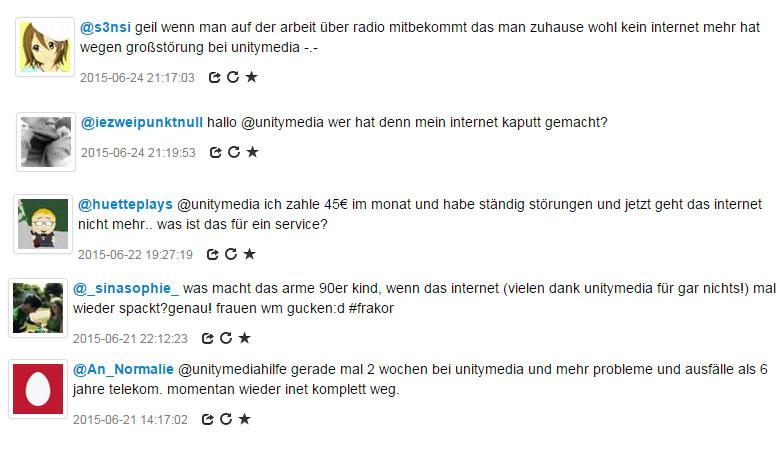 Störungen bei Unitymedia in Paderborn