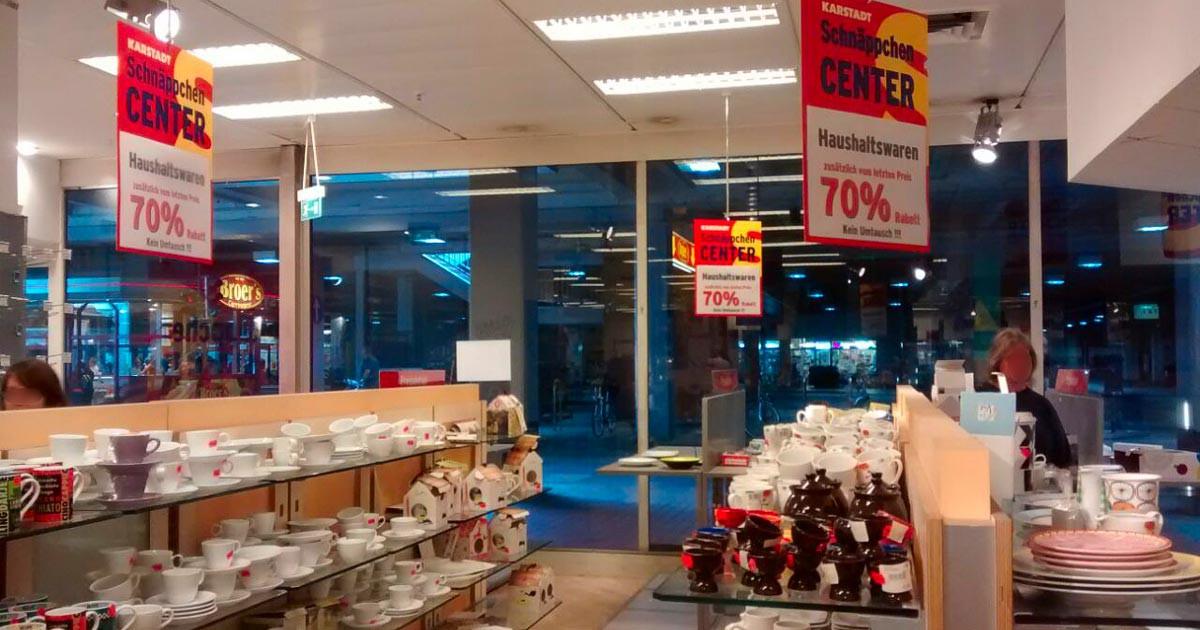 Ausverkauf bei Karstadt in Paderborn