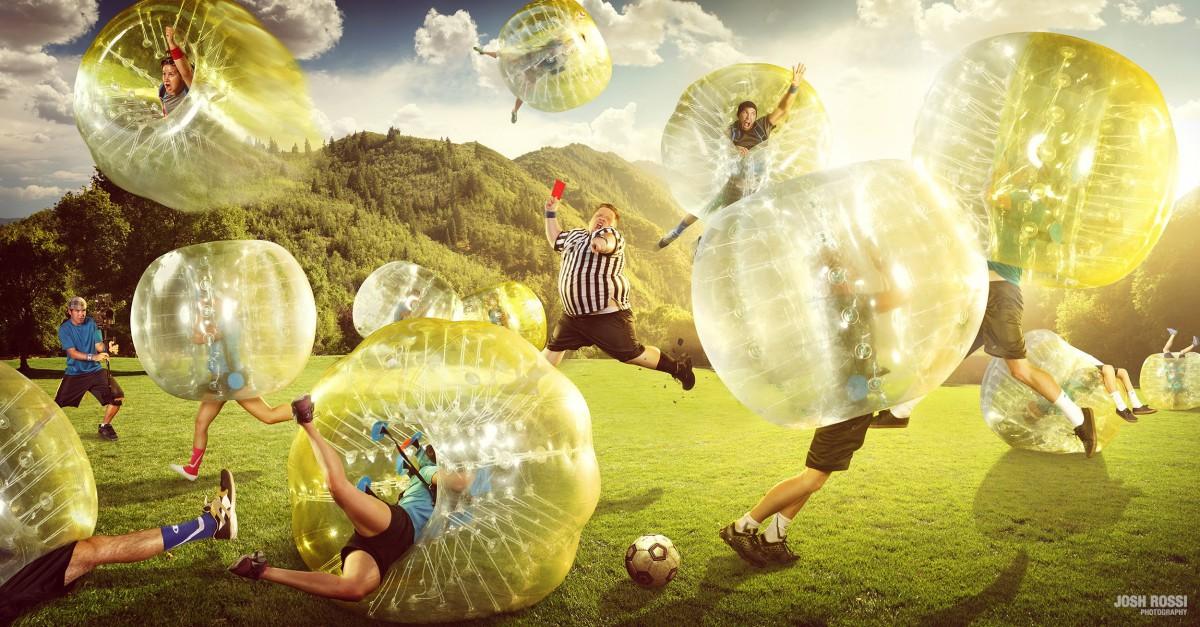 Bubble Soccer-Festival in Paderborn