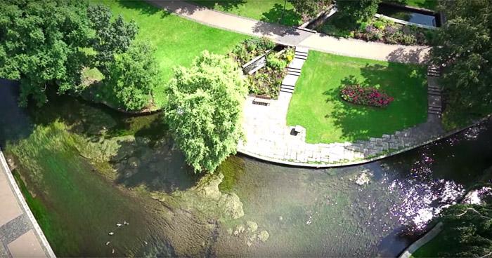DIe Pader in Paderborn ist der kürzeste Fluss in Deutschland