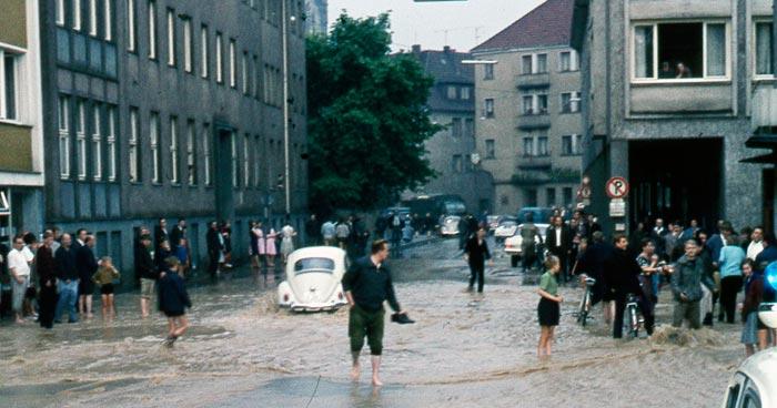 Hochwasser Paderborn 1965 Heinrichsflut