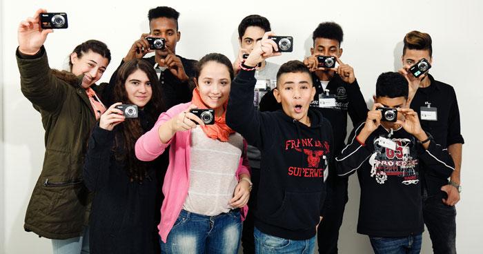 Flüchtlinge fotografieren in Paderborn