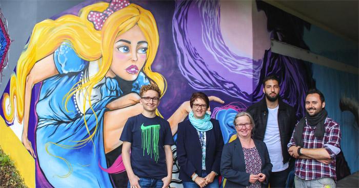 Alice im Wunderland Graffiti Uni Paderborn