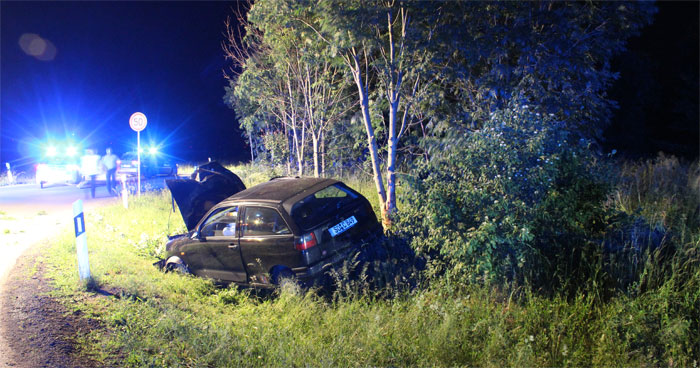 Unfall nach Flucht vor Polizei