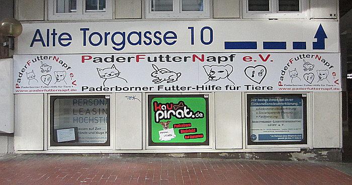PaderFutterNapf - erste Futter-Ausgabestelle in Paderborn