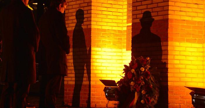 Gedenkfeier Reichsprogromnacht Paderborn alte Synagoge jüdisches Denkmal