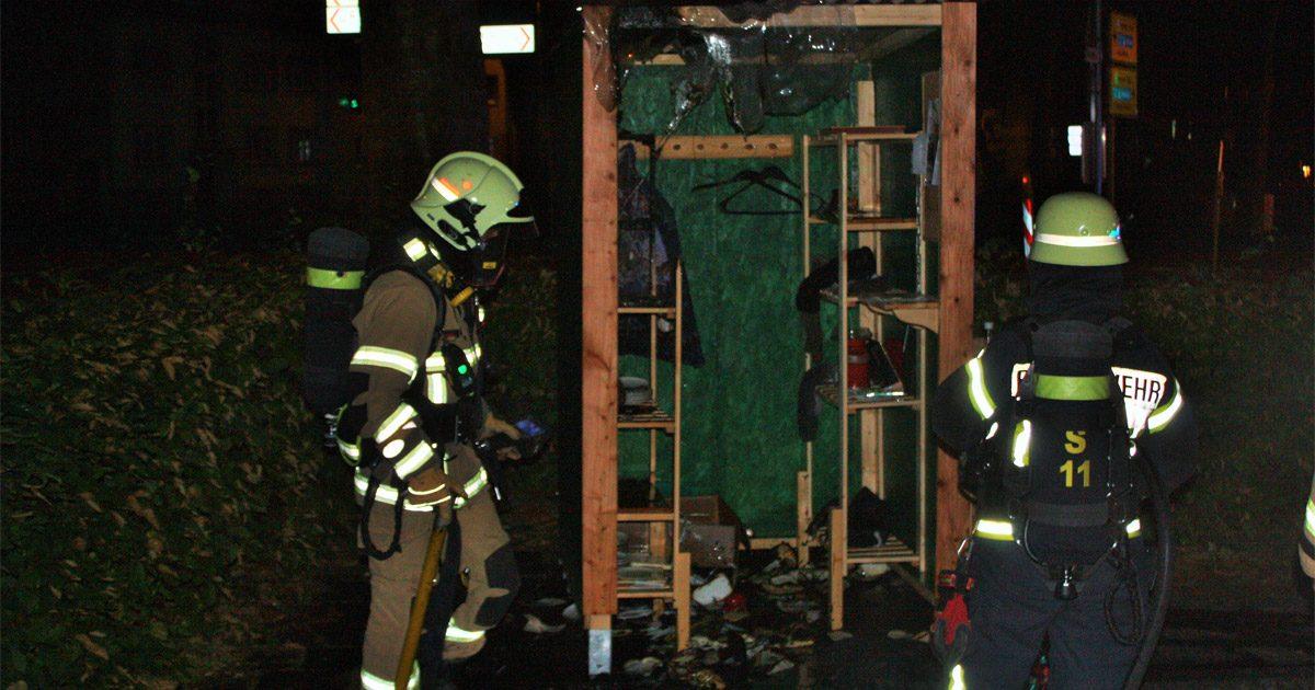 Give-Box Paderborn schon wieder abgebrannt