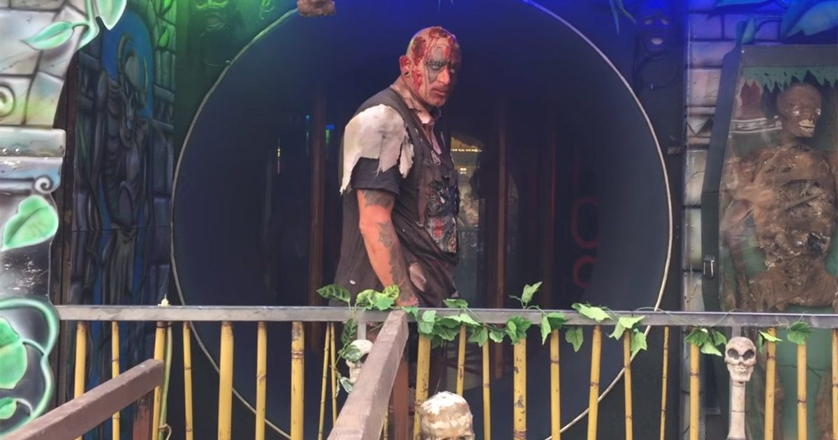Zombi-Schausteller Tim Börschel auf Libori