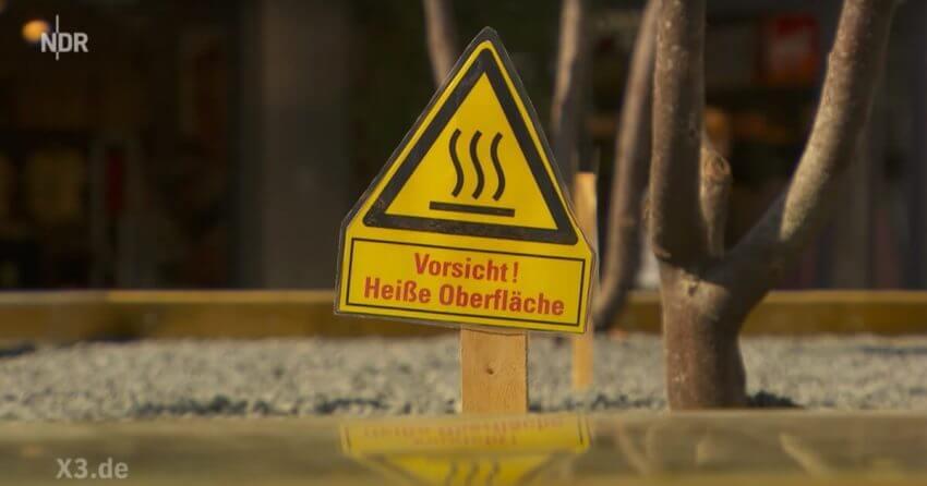 Heiße Hochbeete auf dem Königsplatz in Paderborn - extra3-Sendung