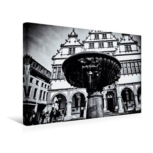 Leinwand-Bild vom Paderborner Rathaus