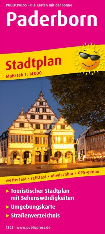 Stadtplan von Paderborn mit Karte und den besten Sehendwürdigkeiten
