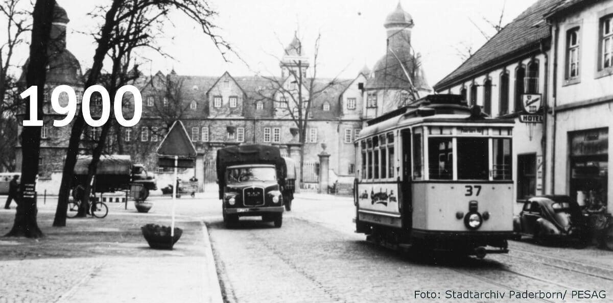 Die Straßenbahn um 1900 von Paderborn nach Neuhaus