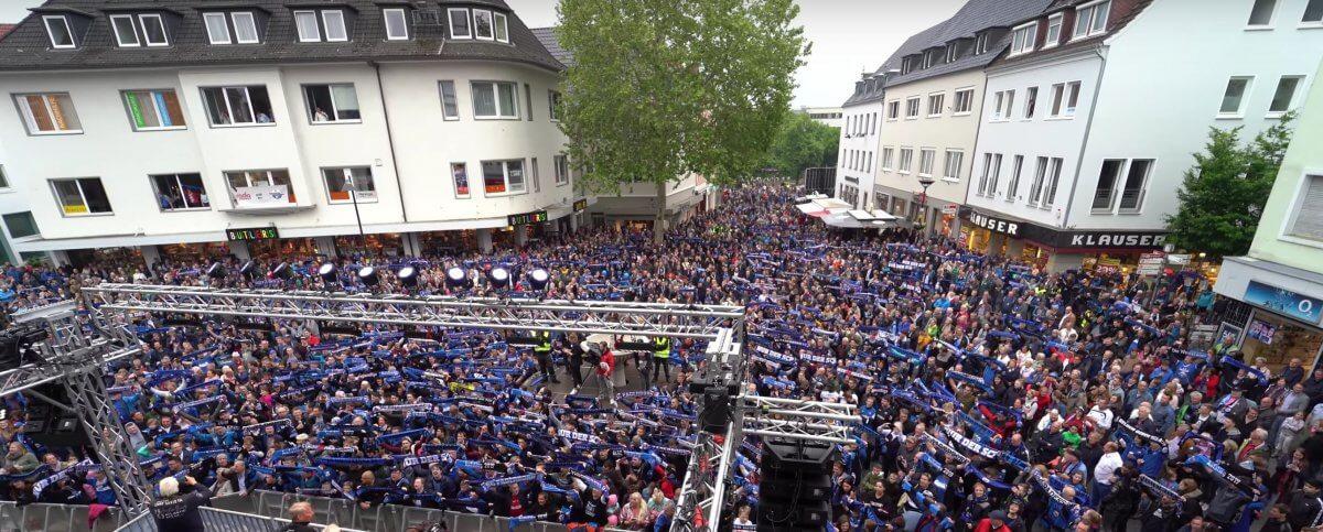 Aufstiegsfeier des SC Paderborn auf dem Rathausplatz